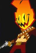 Flame Face profile