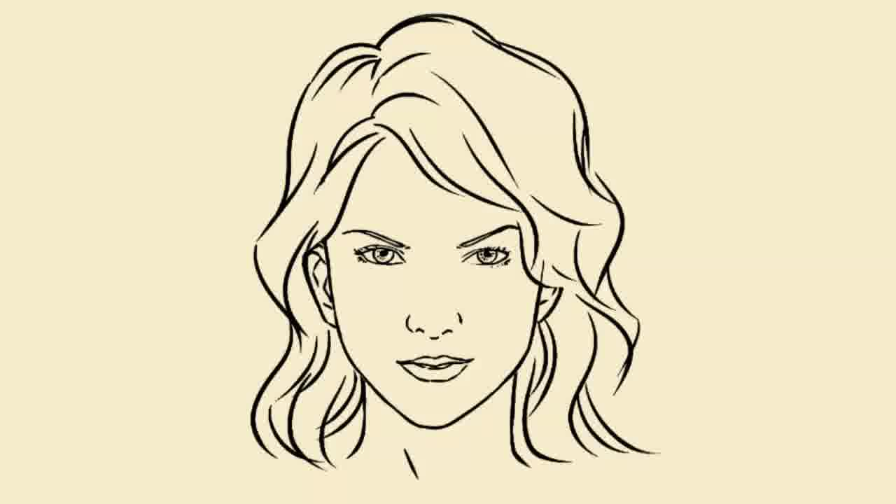 How To Draw Girl Face Easy
