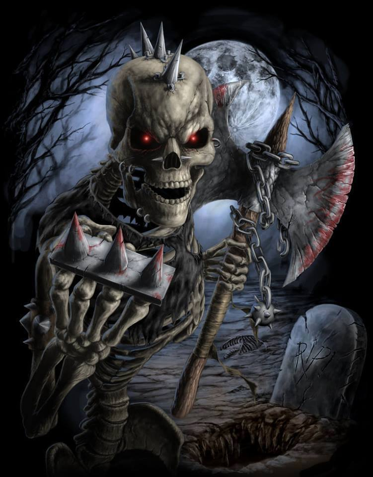 Dark Skull Evil Horror Skulls Art Artwork Skeleton D Wallpaper 27