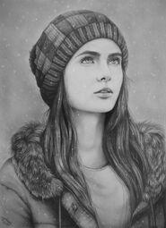 Winter girl by hamood96-d6v4g4u