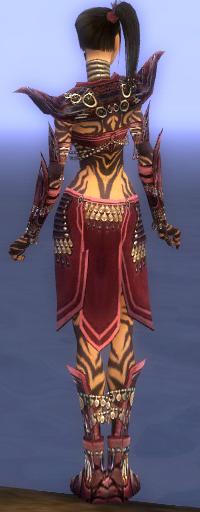 Armure d'obsidienne-Ritualiste-Femme-de dos