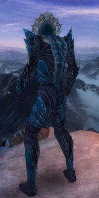 Armure de Kryte-Nécromant-Homme-de dos