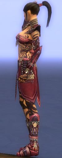 Armure d'obsidienne-Ritualiste-Femme-de profil