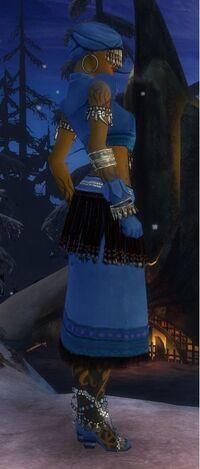 Armure de Seitung-Ritualiste-Femme-de profil