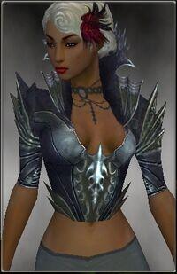 Armure de Kryte-Nécromant-Torse-Femme