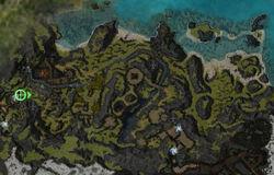 Domaine du Ministre Cho (zone d'exploration) carte