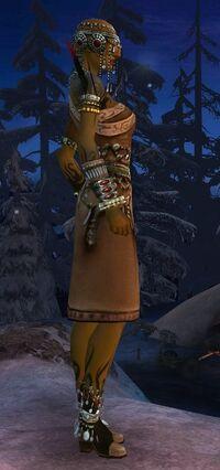Armure canthienne-Ritualiste-Femme-de profil