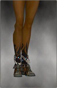 Armure de Seitung-Ritualiste-Pieds-Femme