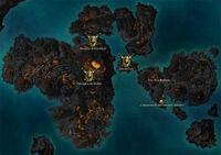Carte de la région de l'Archipel des îles de feu