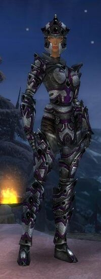 Armure d'obsidienne-Guerrier-Femme