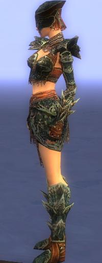 Armure de Luxon-Guerrier-Femme-de profil