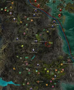 Echovald Forest map elite labelled
