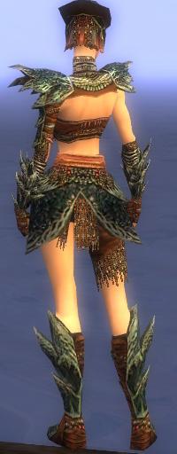 Armure de Luxon-Guerrier-Femme-de dos