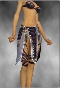 Armure d'obsidienne-Ritualiste-Jambes-Femme