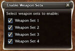 Enable Weapon Sets