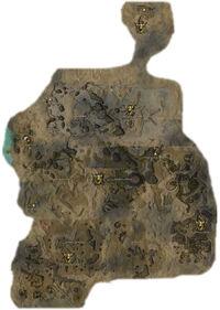 Carte de la région du Désert de cristal