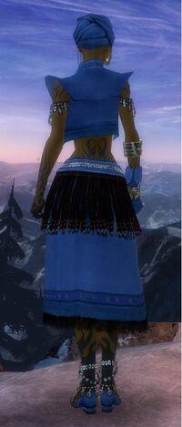 Armure de Seitung-Ritualiste-Femme-de dos