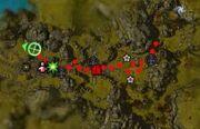 Assaut sur la forteresse carte