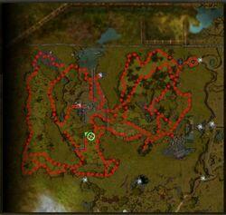 Comté des Vertes Vallées carte