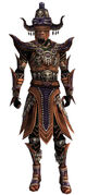 Armure d'obsidienne-Ritualiste-Homme