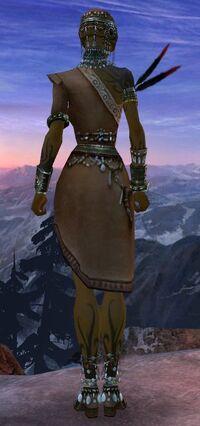 Armure canthienne-Ritualiste-Femme-de dos