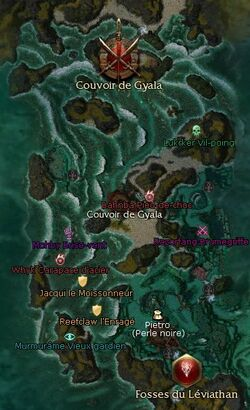 Couvoir de Gyala (zone d'exploration) carte