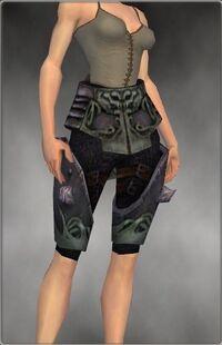 Armure primitive-Guerrier-Jambes-Femme