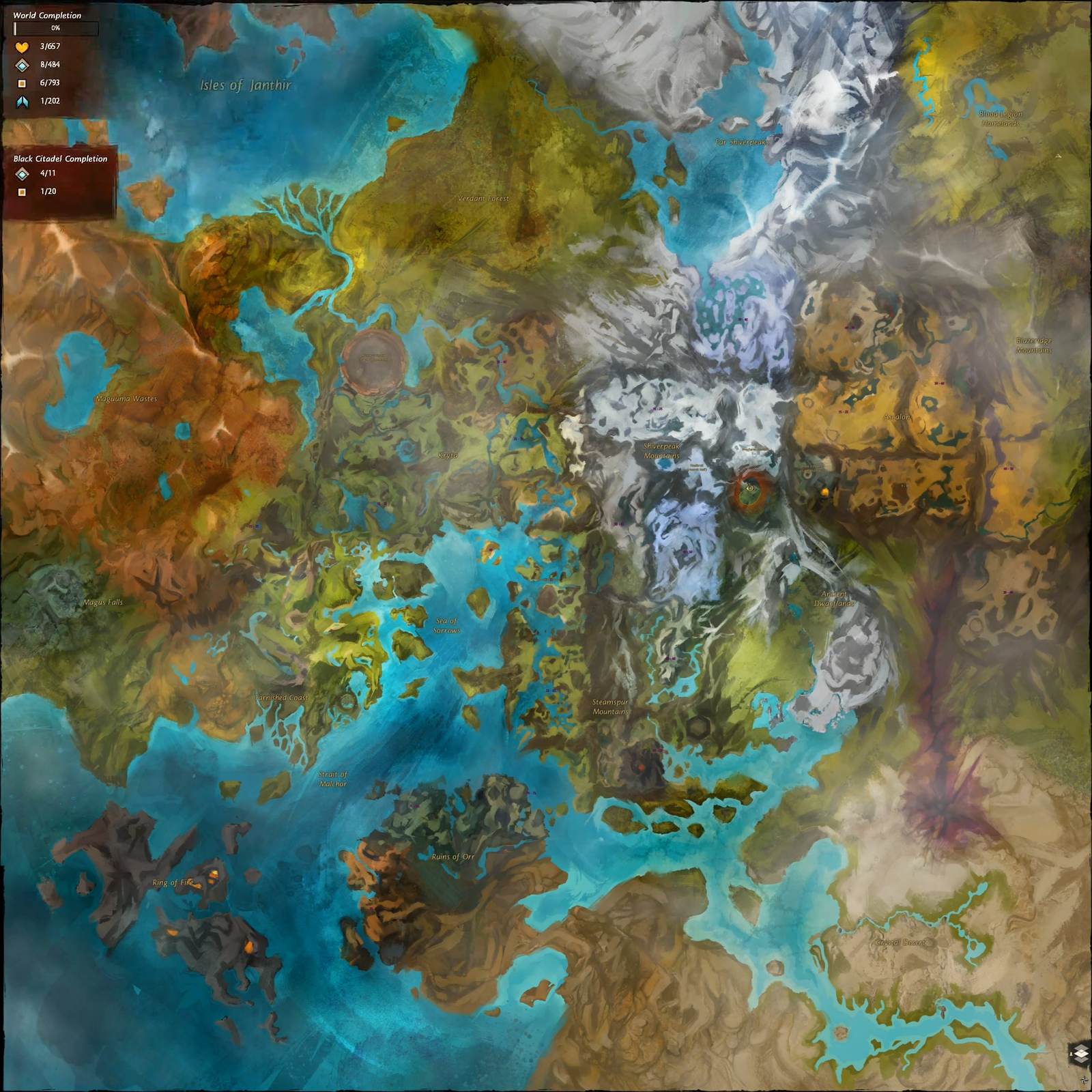 Guild Wars 1 World Map.Tyria Guildwiki2 Fandom Powered By Wikia
