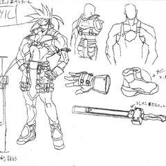 <i><b>Guilty Gear X Drafting Artworks</b></i> 1