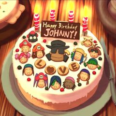 Johnny's birthday cake from the crew
