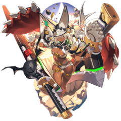 Rameltha's render in the Guilty Gear Xrd x Last Period crossover event
