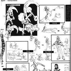 <i><b>Guilty Gear X Drafting Artworks</b></i> 11
