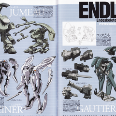 Endlave Guide from Guilty Crown Character Design Book