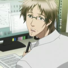 Kurosu Ouma during his research.