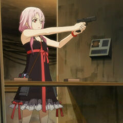 Inori using her gun