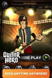 Guitar Hero (iOS) Startup Screen