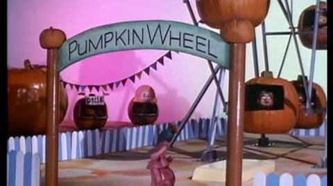 Come on the Merry-Go-Pumpkin! It's fun here!