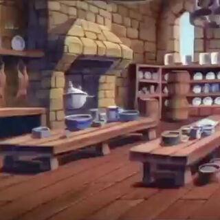Küche von Schloss Dunwyn