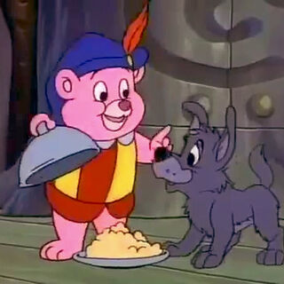 Cubbi füttert Wölfchen