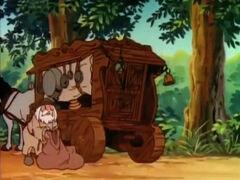 Wagen des alten Trödelhändlers