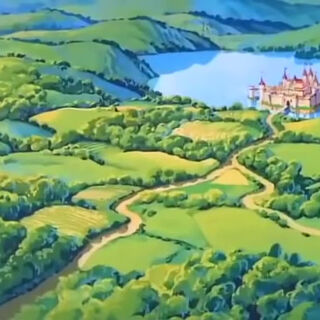 Schloss Dunwyn in der Landschaft