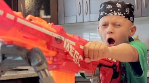 NERF WAR DAD vs SON!