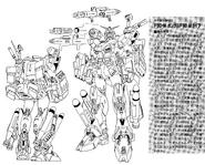 F90M Gundam F90 Marine Type Lineart