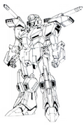 MSZ-013 Mass Production Type ZZ Gundam Lineart