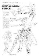 Wing Gundam Fenice Lineart 1