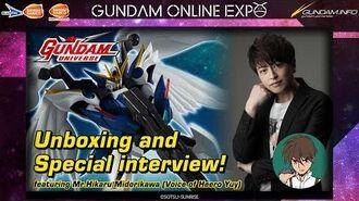 【GUNDAM ONLINE EXPO】GUNDAM UNIVERSE Unboxing and interview! ft. MR.Hikaru Midorikawa
