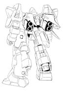 MMS-01 Serpent Back View Lineart