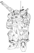 F71 G-Cannon Powered Weapon Type Front Lineart