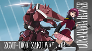 Lunamaria & Gunner ZAKU Warrior in second opening