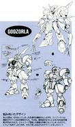 Godzorla earlier designs
